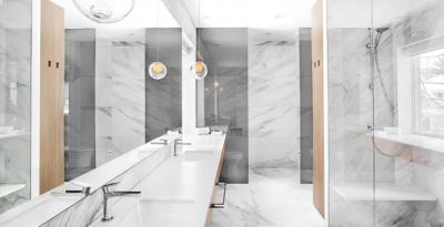 Marble Tile Bathroom Remodel
